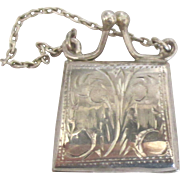 Miniature Sterling Opening Purse Pendant