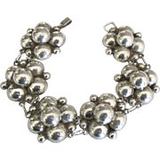 Gorgeous Chunky Taxco Sterling Link Bracelet