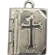 "Vintage Sterling ""The Lord's Prayer"" Book Charm"