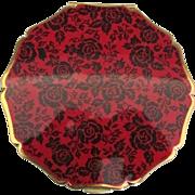 Vintage English Stratton Black Roses Compact