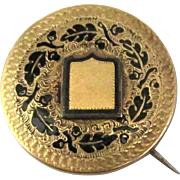 1880's Victorian Taile D'Epargne Brooch or Pendant