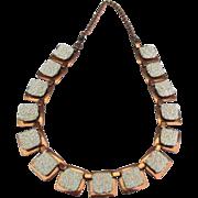 Vintage Signed Matisse Sea Foam Copper Necklace
