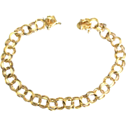 Vintage 12K Gold Filled Double Link Bracelet