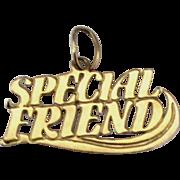 14K YG Special Friend Charm