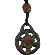 Early 1900's Paper Mache Morning Pendant