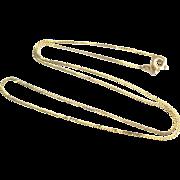 14K YG Serpentine 16 Inch Chain Necklace