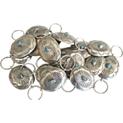 Navajo Sterling Turquoise Concho Belt or Necklace