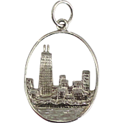 Detailed Sterling Chicago Skyline Charm