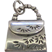 Adorable Sterling Mechanical Purse Charm