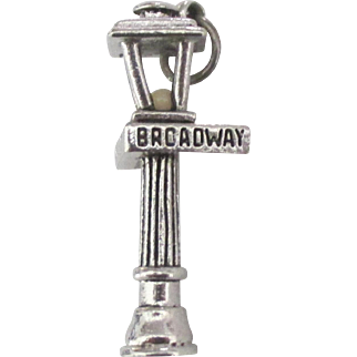 Vintage 42nd Street Broadway NYC Light Post Charm