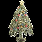Signed ART Rhinestone Christmas Tree Pin