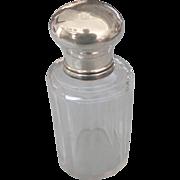 Sterling Top Crystal Vanity Jar