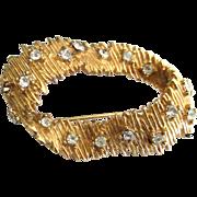 Sparkling Vintage Ciro Free Form Rhinestone Brooch