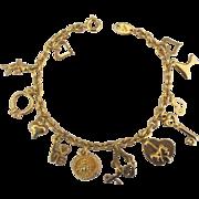Vintage Trifari Wedding Romance Charm Bracelet