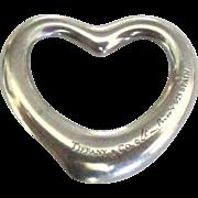 Vintage Tiffany Co Sterling Heart Pendant