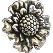 Stunning Sterling Sun Flower Ring- Size 8 1/2