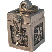 Sterling Prayer Box Pendant or Charm