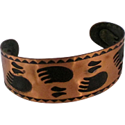 Vintage Bear Paw Copper Cuff Bracelet