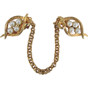 Lovely Vintage Faux Pearl Sweater Guard Clip