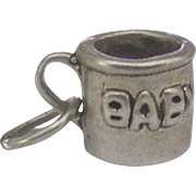 Vintage Sterling Baby Cup Charm