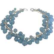 Flirty Sterling Blue Quartz Bead Bracelet
