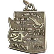 Vintage Sterling Arizona State Charm