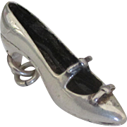 Large Sterling Ladies Shoe Pendant or Charm