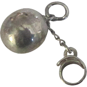 Vintage Sterling Ball and Chain Charm
