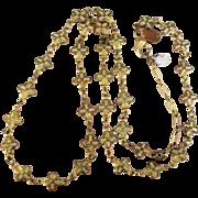 Signed Catherine Popesco of France Enamel Maltese Cross Necklace