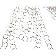Gorgeous Graduated Italian Sterling 4 Strand Necklace