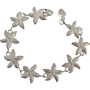 Charming Sterling Starfish Link Bracelet