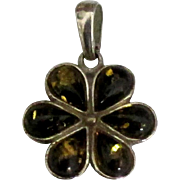 Lovely Sterling Baltic Amber Pendant