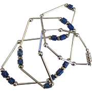 Vintage Sterling Sodalite Necklace