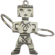 Sterling Navajo Kachina with Medicine Wheels Charm