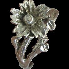 Vintage Sterling Daisy Flower Ring
