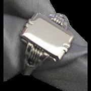 Vintage Sterling Signet Ring- Not Engraved- Size 8 1/2