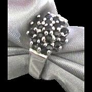 Sterling Deep Blue Topaz Cluster Ring