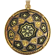 Lovely Vintage Damascene Pendant