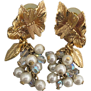 Kirks Folly Dragonfly Dreams Pearl Dangle Pierced Earrings