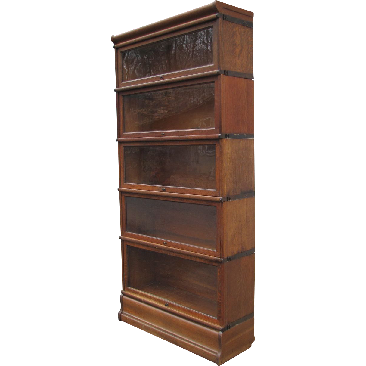 Oak Five Stack Barrister Bookcase. SOLD on Ruby Lane