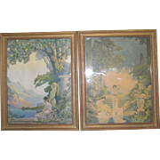 Pair of Framed CK Nortwick Art Deco Prints