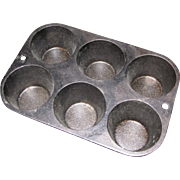 Cast Iron Lodge 5P2 six Muffin Pan