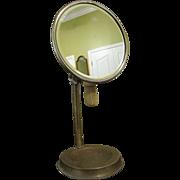 Brass & Chrome Shaving Mirror