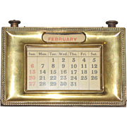 Oak & Brass Desk Calendar
