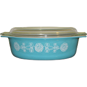 Pyrex Covered Casserole Lace Medallion 1957