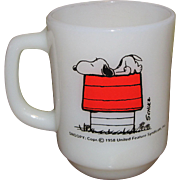 Fire King Snoopy Coffee Mug 1958