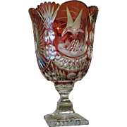 Imperlux Ruby Cut to Clear Vase