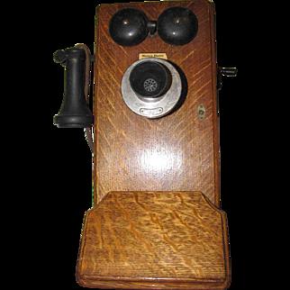 Western Electric Oak Hand Crank Telephone