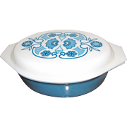 Pyrex Covered Casserole Dish Horizon Blue