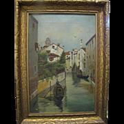 Oil on Canvas : European Canal